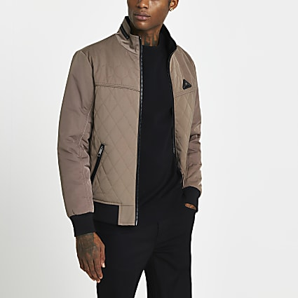 Stone quilted jacket