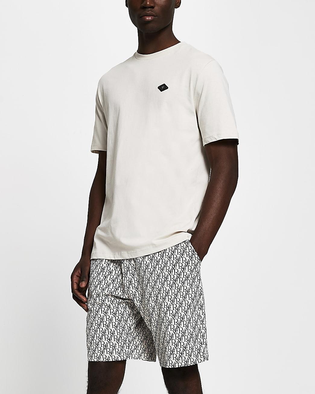 Stone RI monogram pyjama set