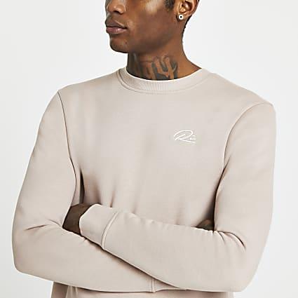 Stone RI script embellished sweatshirt