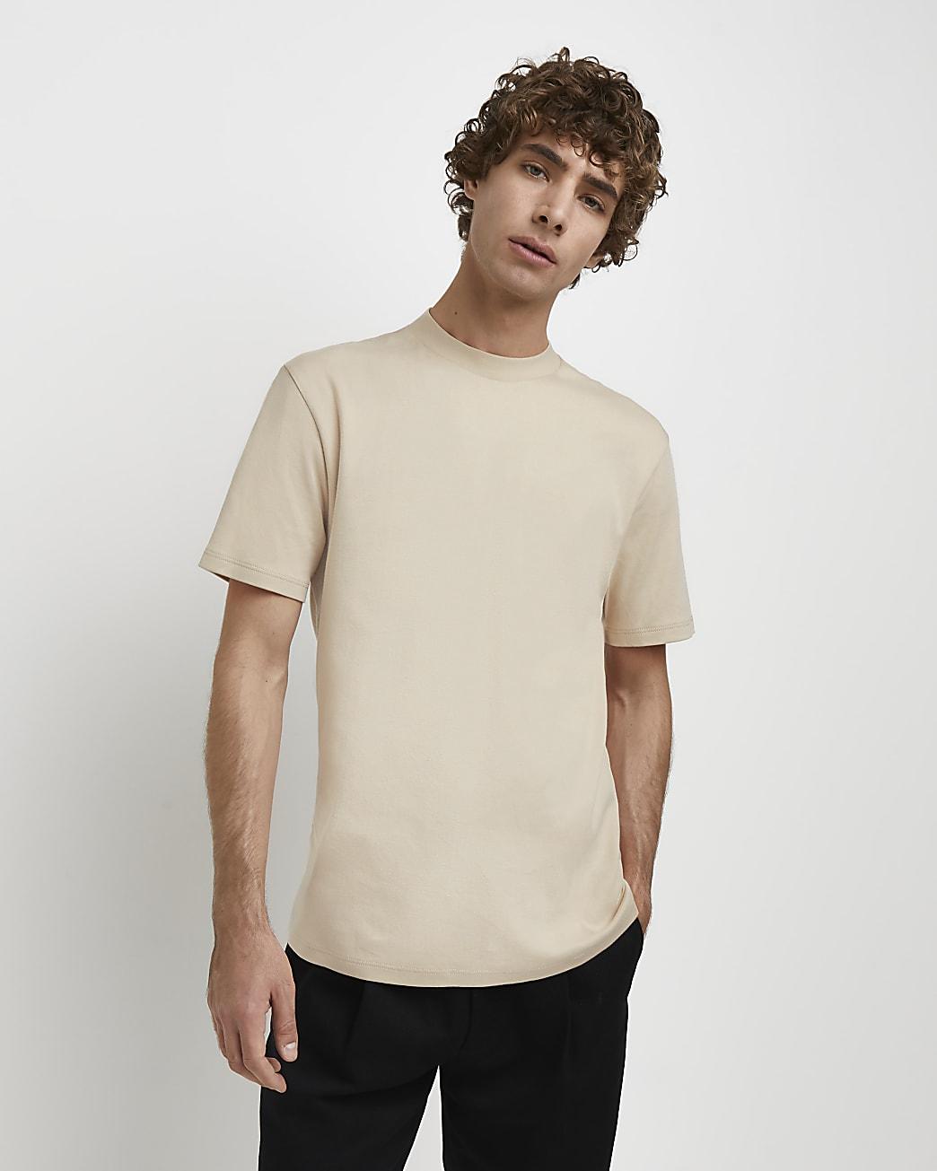 Stone RI Studio slim fit high neck t-shirt