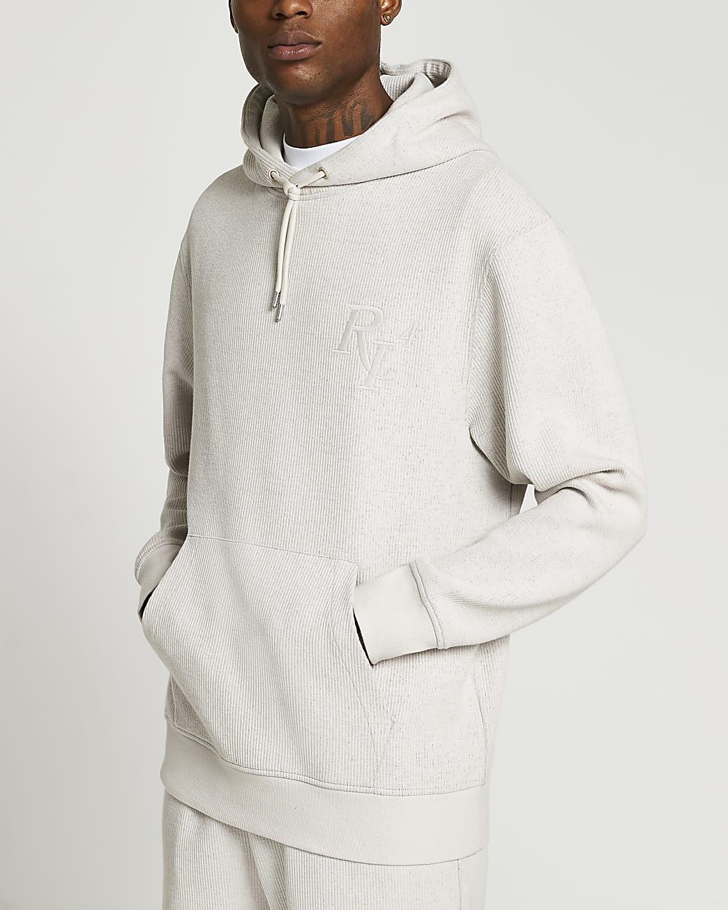 Stone RI4 logo hoodie
