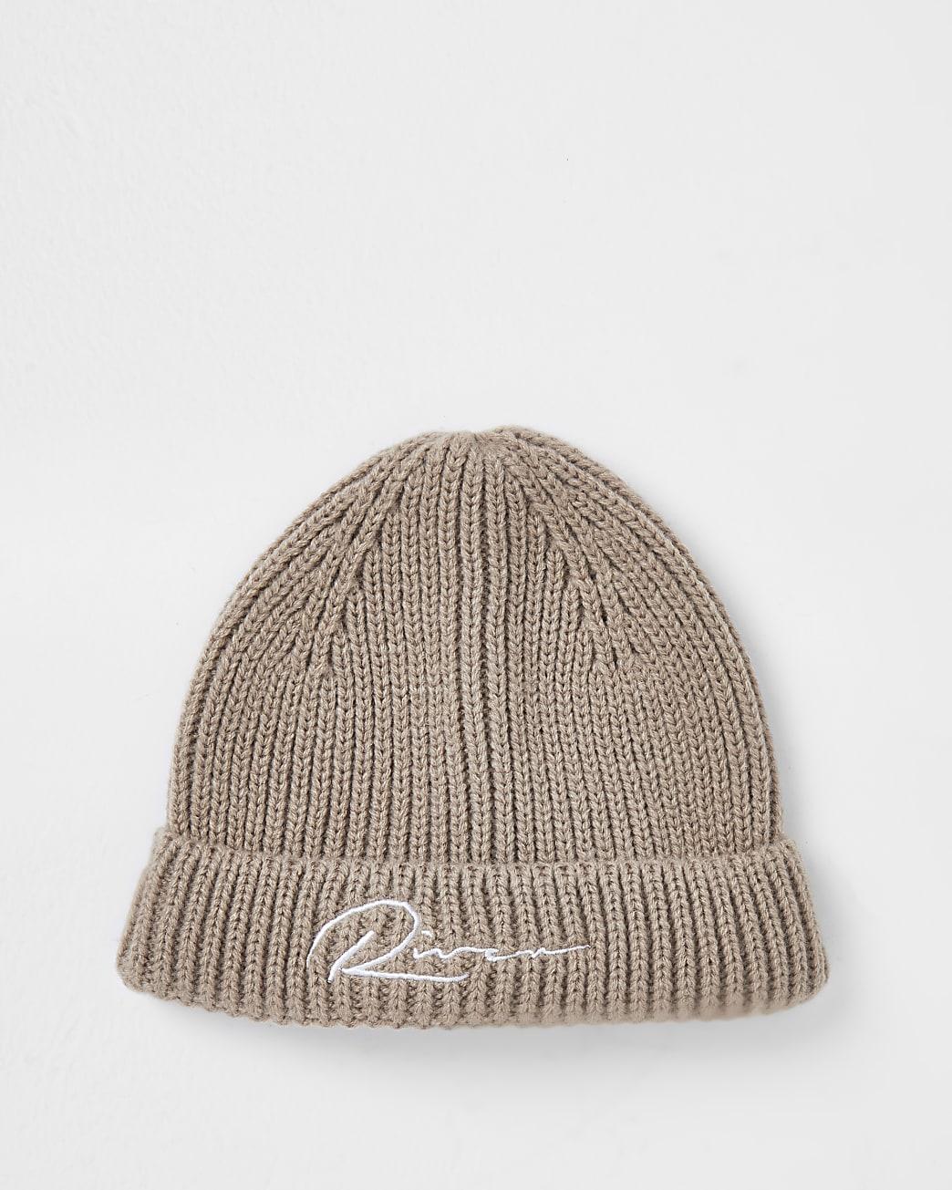 Stone river knitted docker beanie hat
