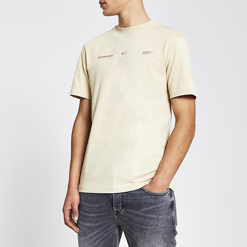 Stone short sleeve japanese print t-shirt