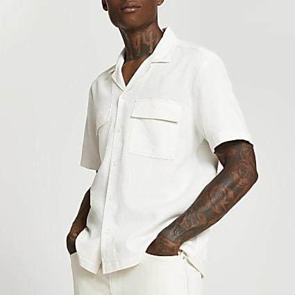 Stone short sleeve safari shirt