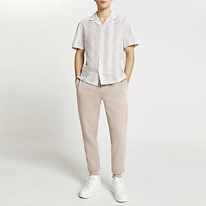 Stone short sleeve stripe shirt