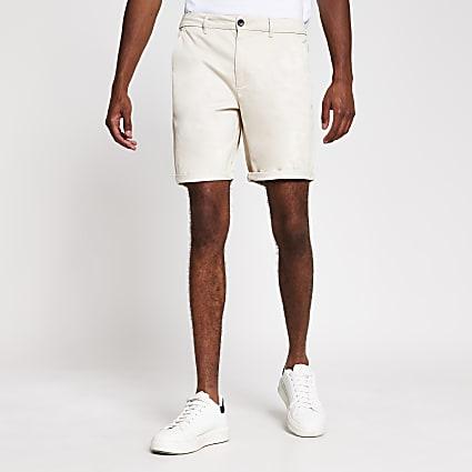 Stone skinny fit chino shorts