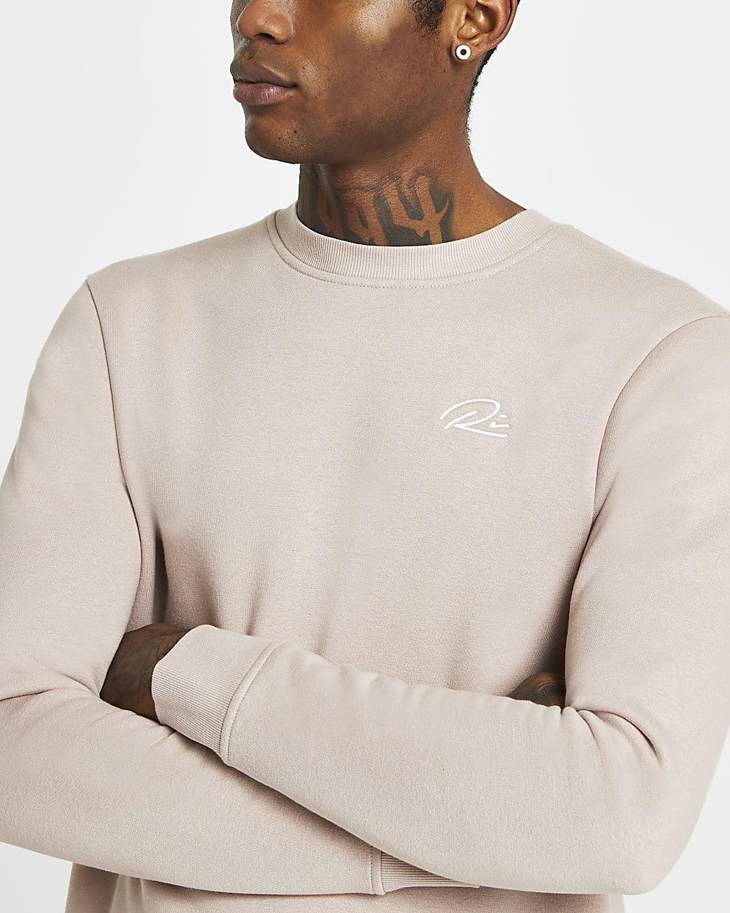 Stone slim fit sweatshirt