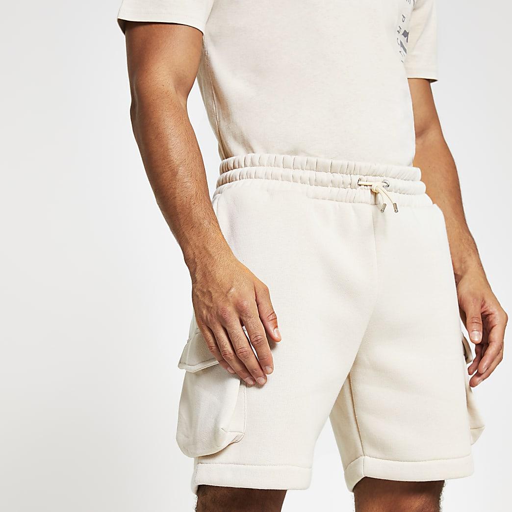 Stone slim fit utility shorts