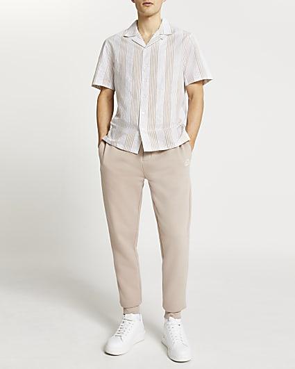Stone stripe short sleeve shirt