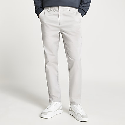 Stone tapered chino trousers