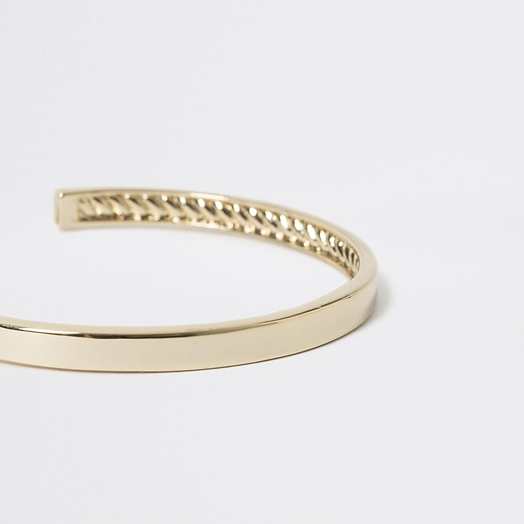 Studio gold plated cuff bracelet