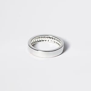 Studio - Zilverkleurige geplateerde effen ring