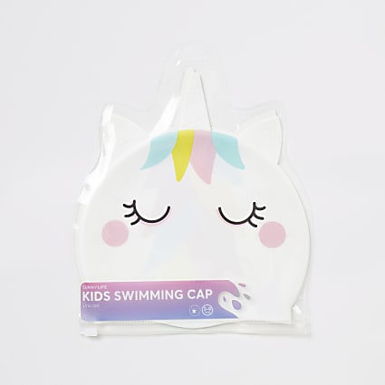 Sunnylife girls white unicorn swim hat