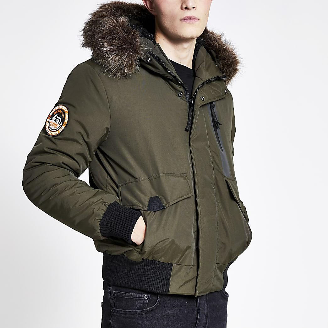 Superdry khaki Everest bomber jacket