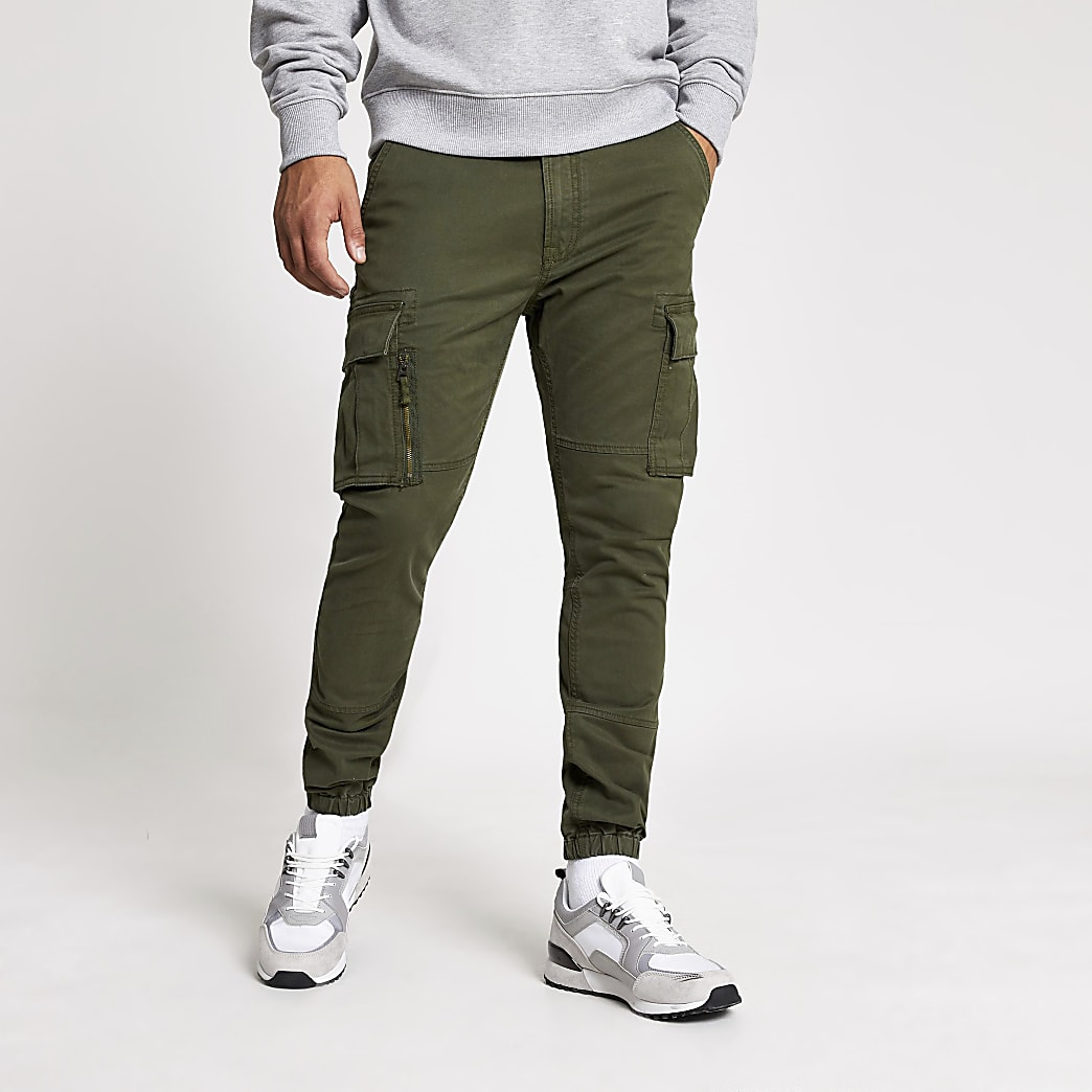 Superdry khaki utility trousers