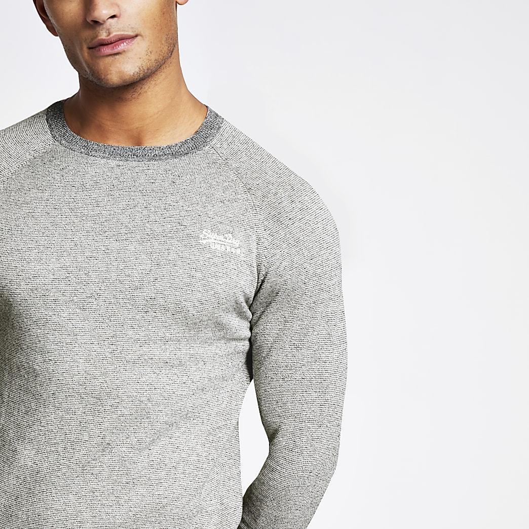 Superdry Orange Label grey sweatshirt