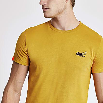 Superdry yellow short sleeve T-shirt