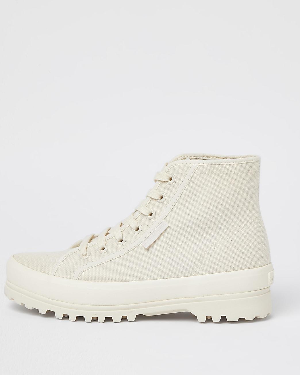 Superga beige drench boot