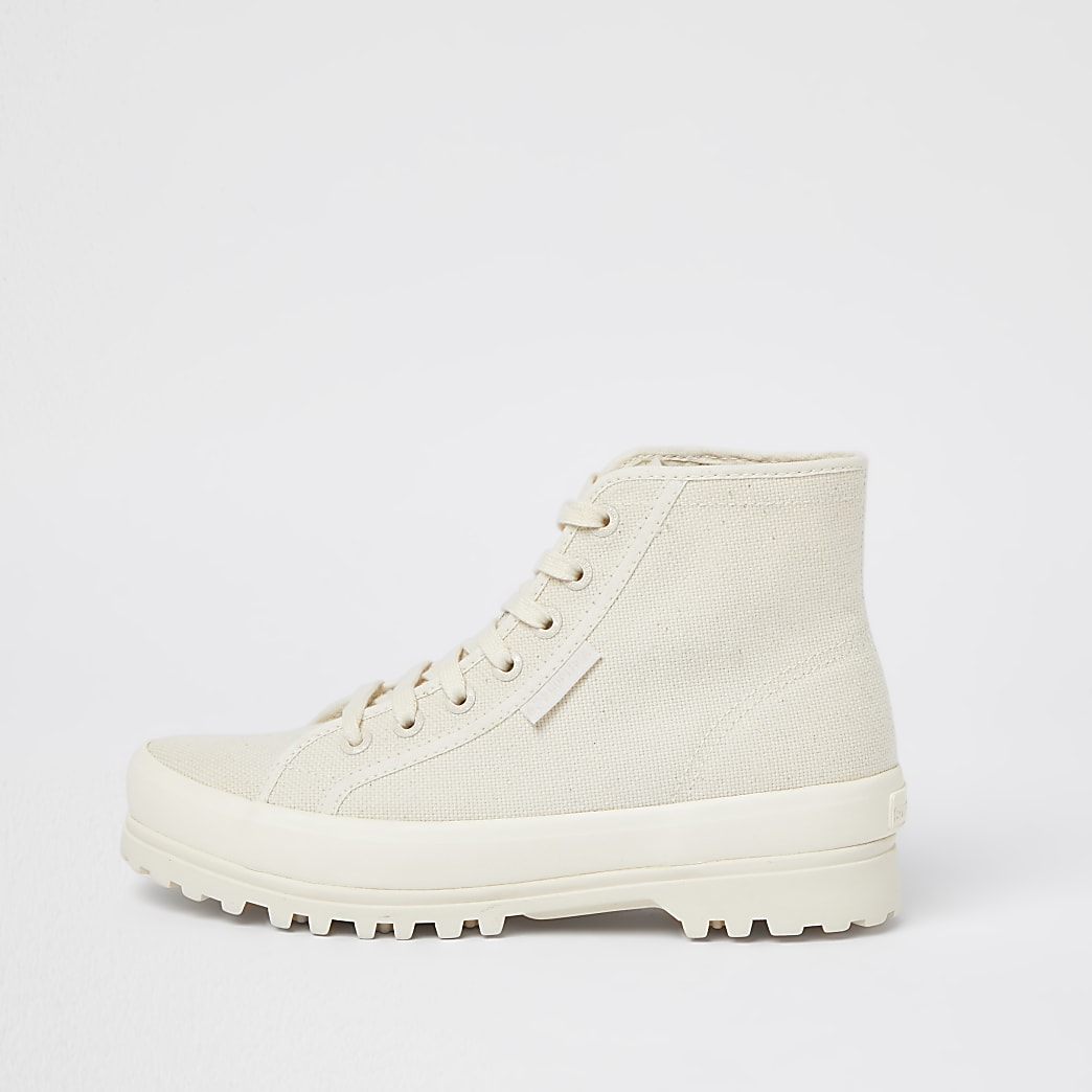 Superga beige drench boot