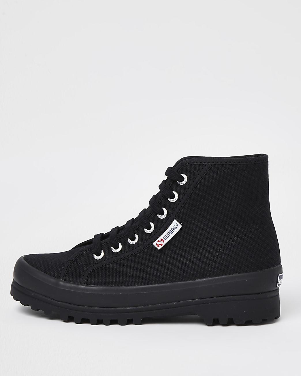 Superga black drench boot
