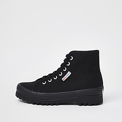 Superga black drench boot