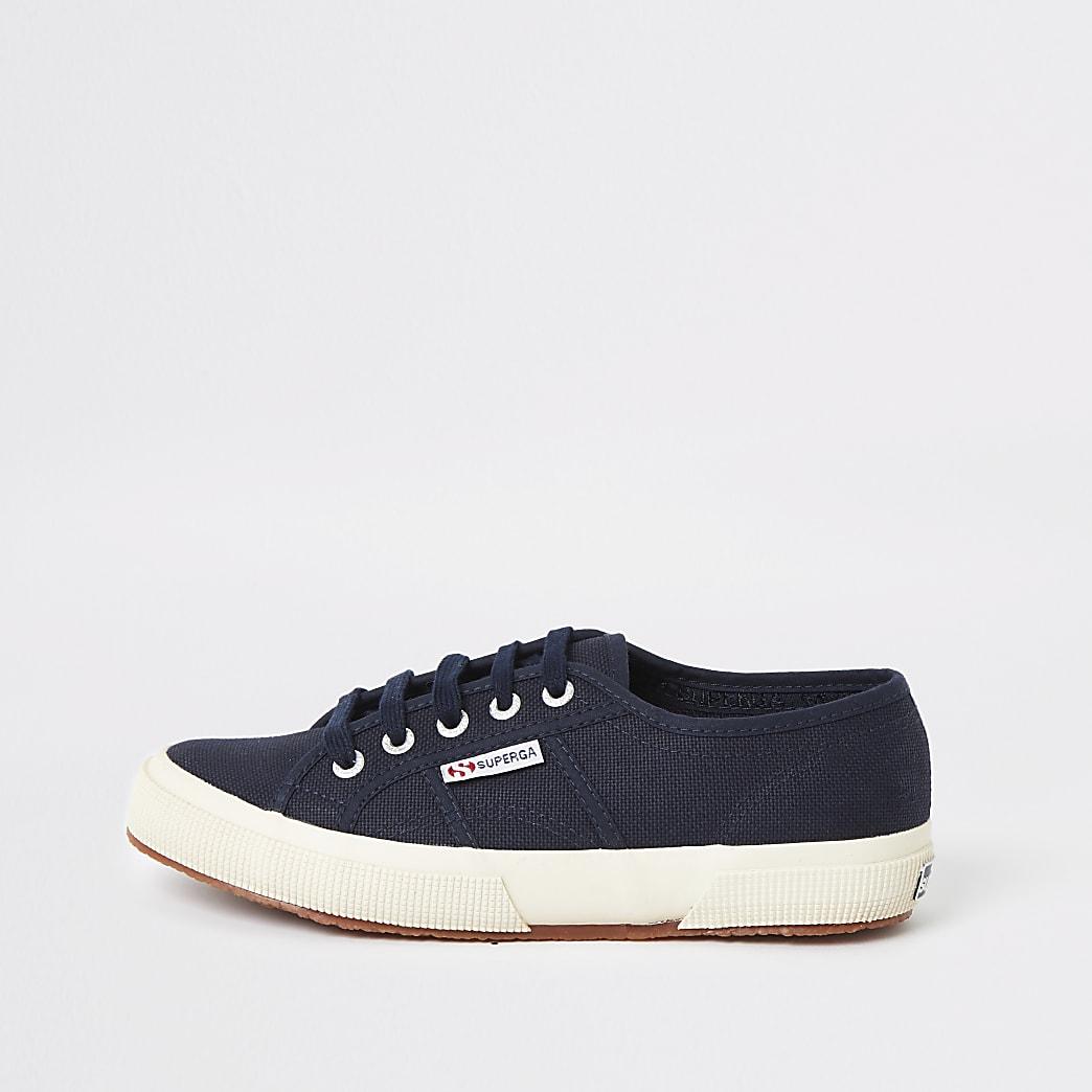 Superga - Marineblauwe klassieke sneakers