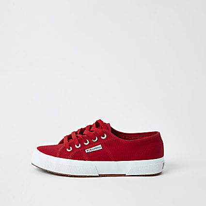 Superga red classic runner