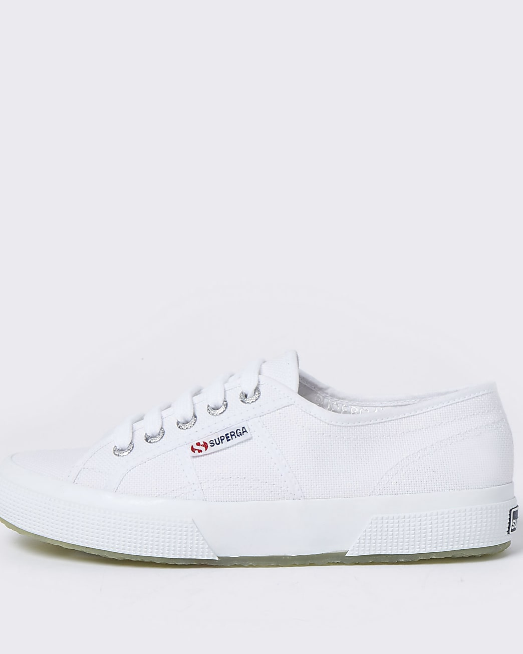 Superga white classic canvas trainers