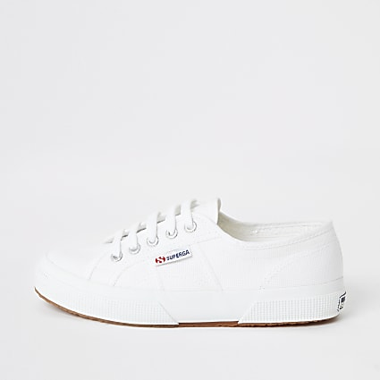 Superga white classic runner trainers