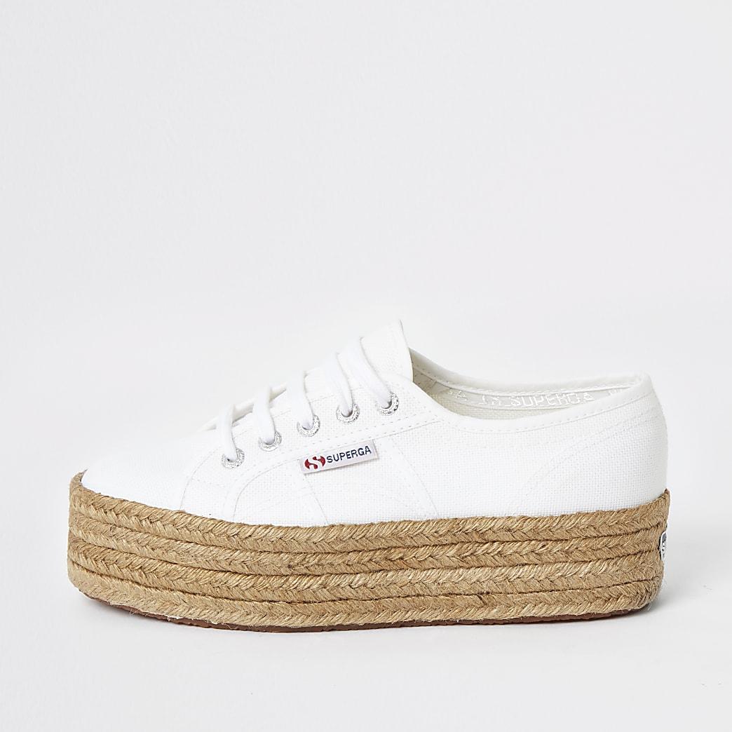 Superga - Witte espadrillesneakers