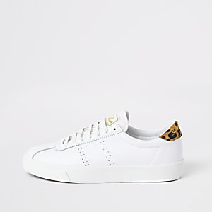 Superga white leather Club S trainers