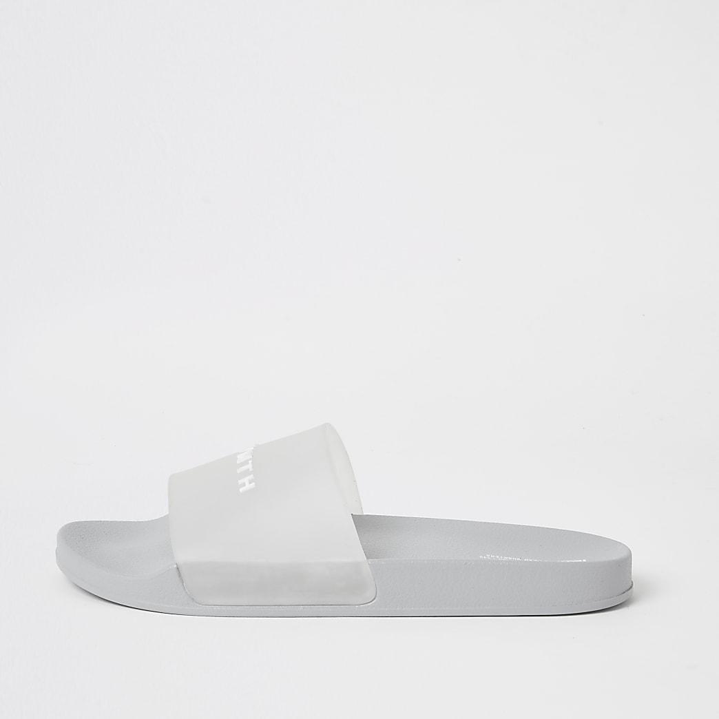 SVNTH - Lichtgrijze transparante slippers