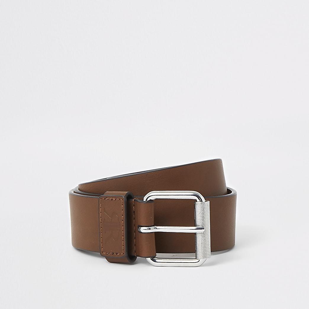 Tan RI keeper buckle belt