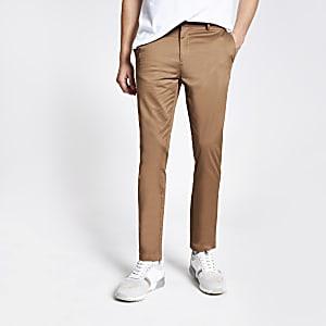 Pantalon chinoskinnyfauve