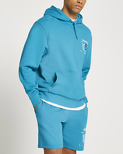 Teal Varials graphic hoodie