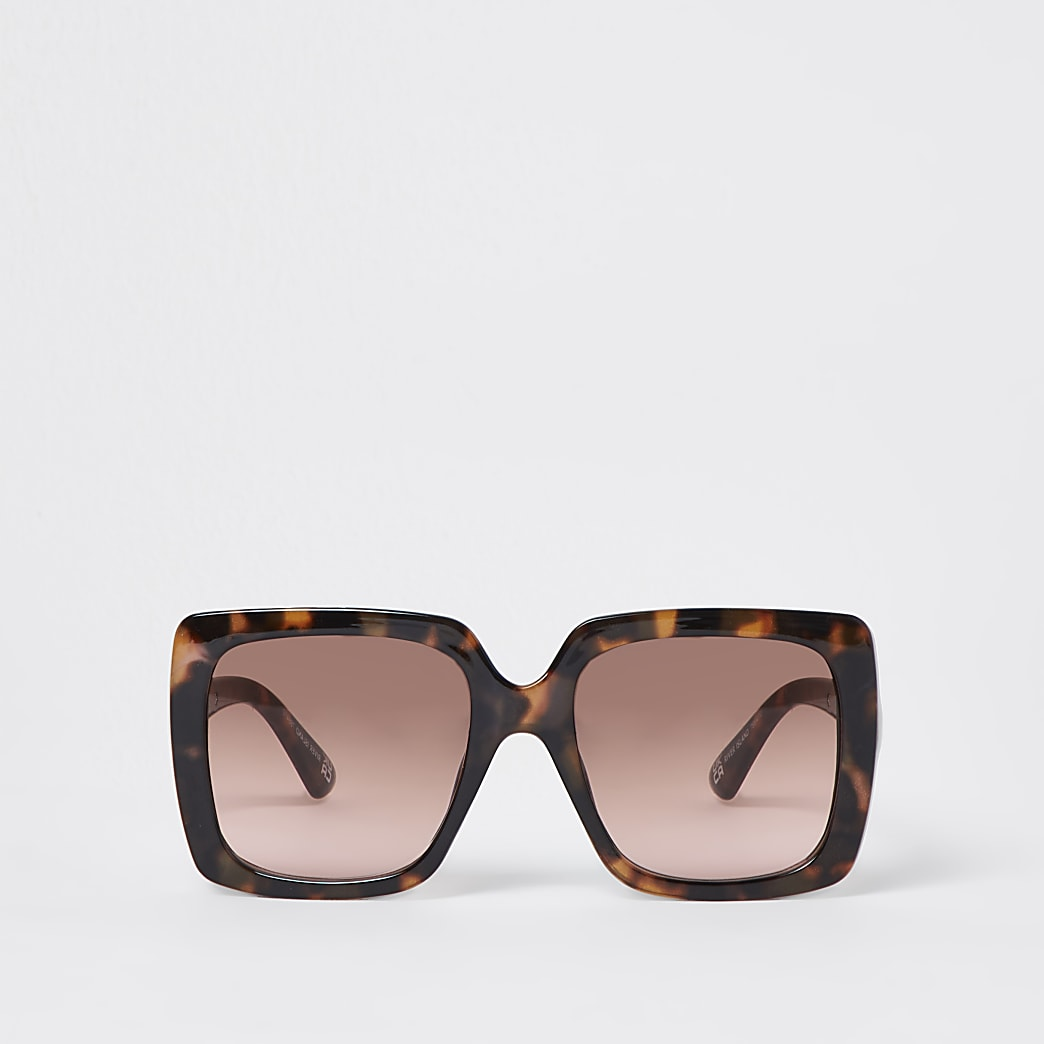 Tortoise oversized square sunglasses