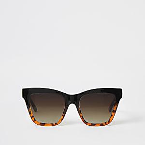 Schildpatt-Sonnenbrille mit Kettenbügel