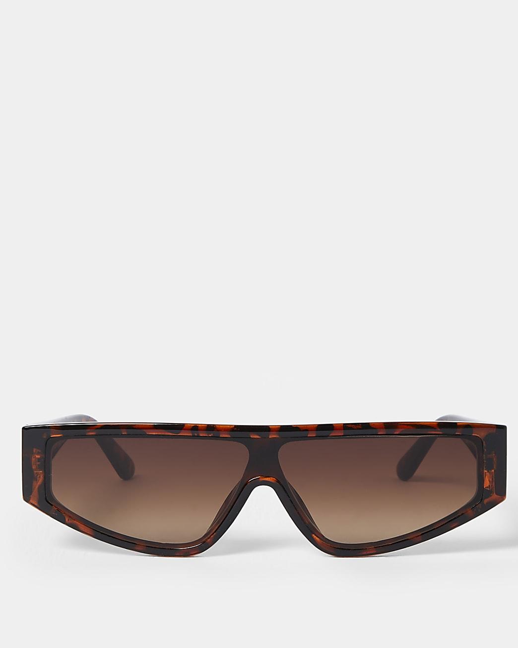 Tortoise shell slim frame sunglasses
