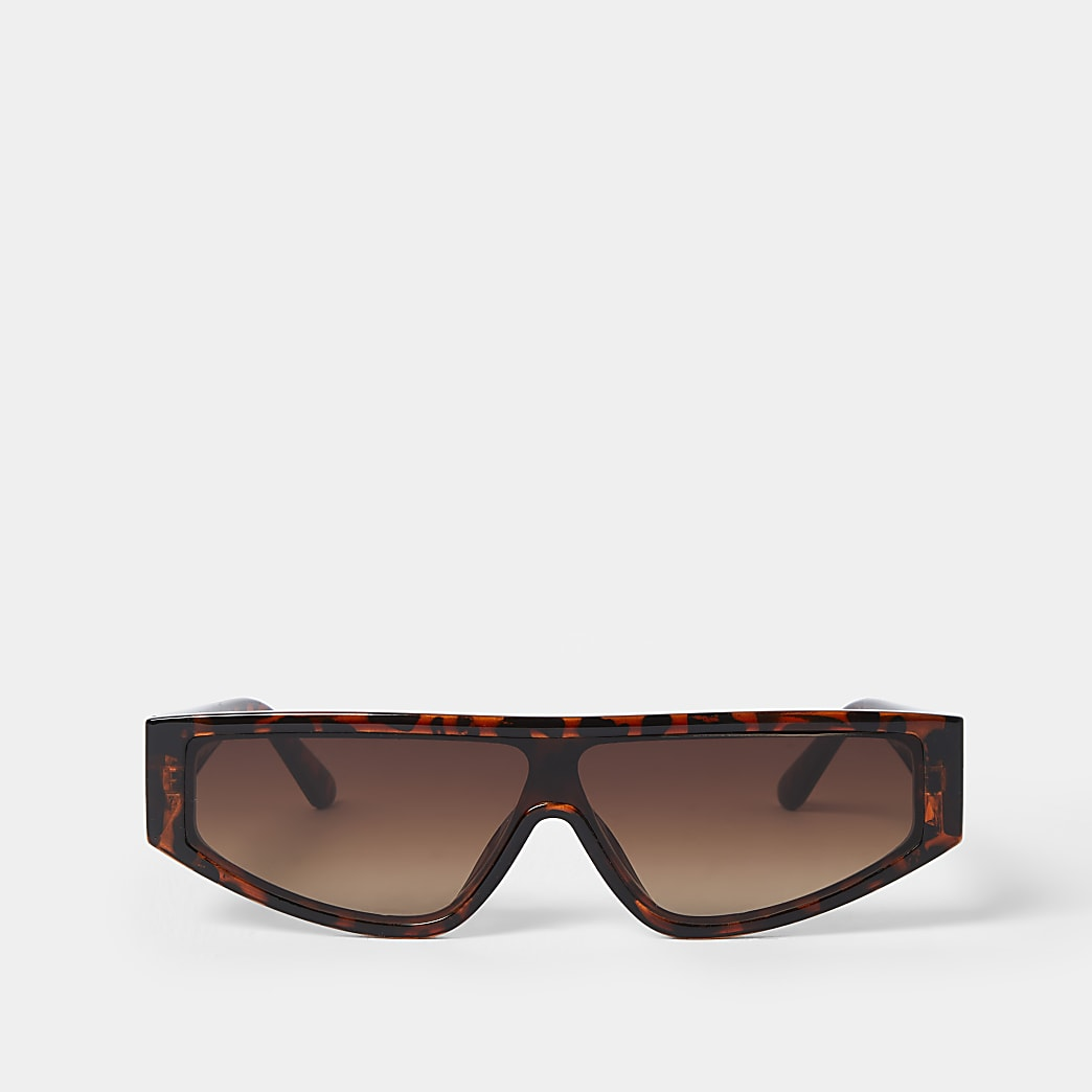 Tortoise shell slim frame sunglasses