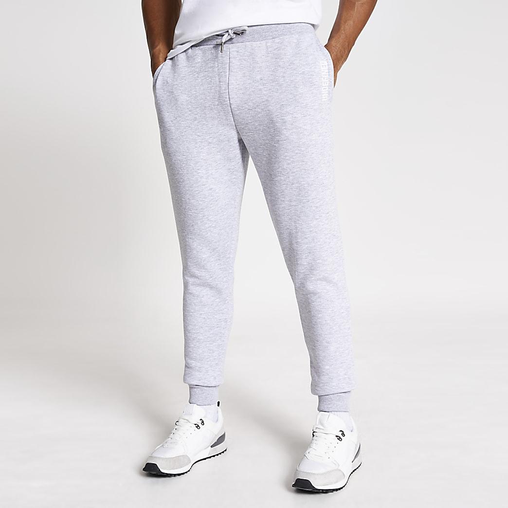 Undefined– Pantalon de jogging slim gris brodé