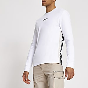 Undefined white tape side slim fit T-shirt