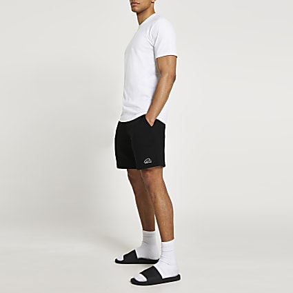 White & black t-shirt and shorts set