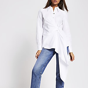 White asymmetric shirt