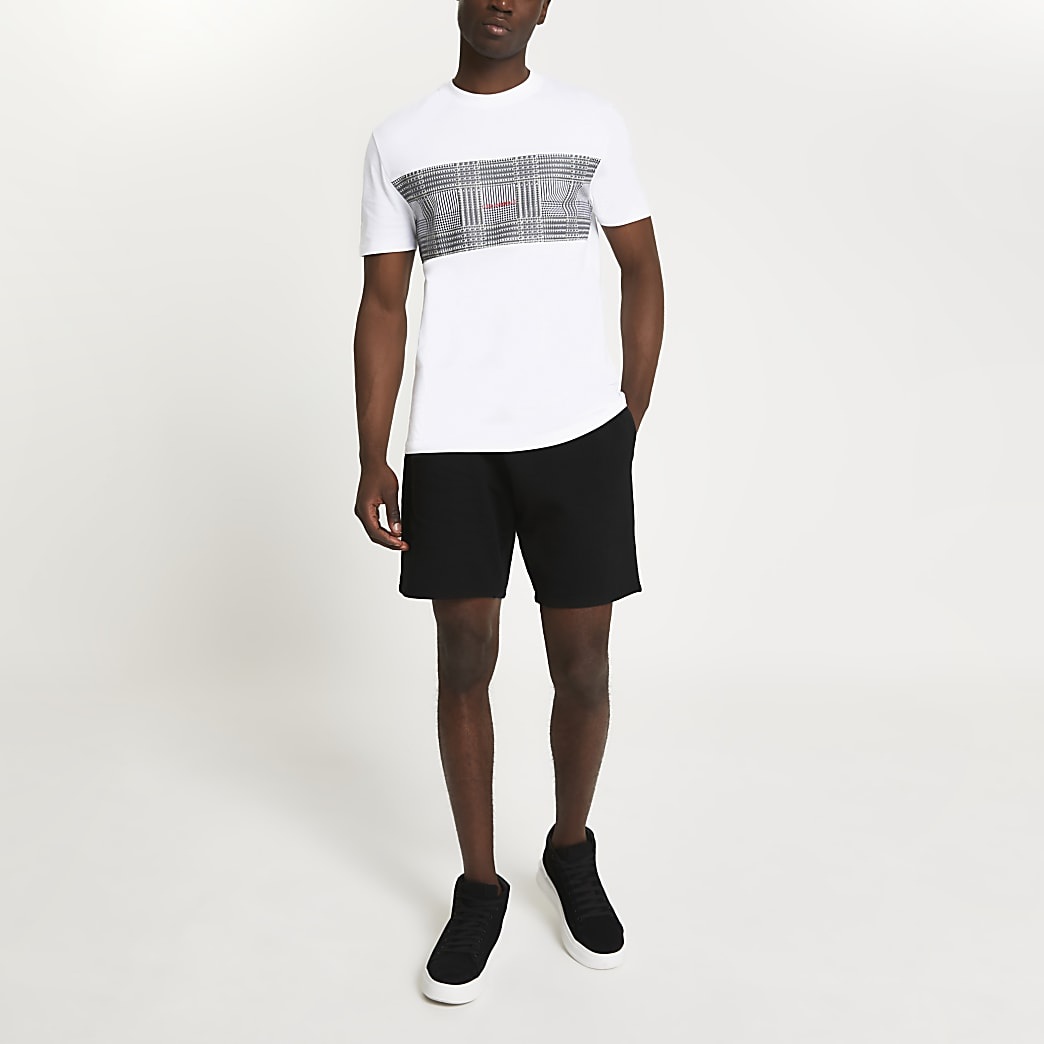 White check block '(Les) Ensemble' t-shirt