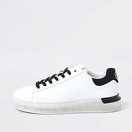 White chunky sole trainers