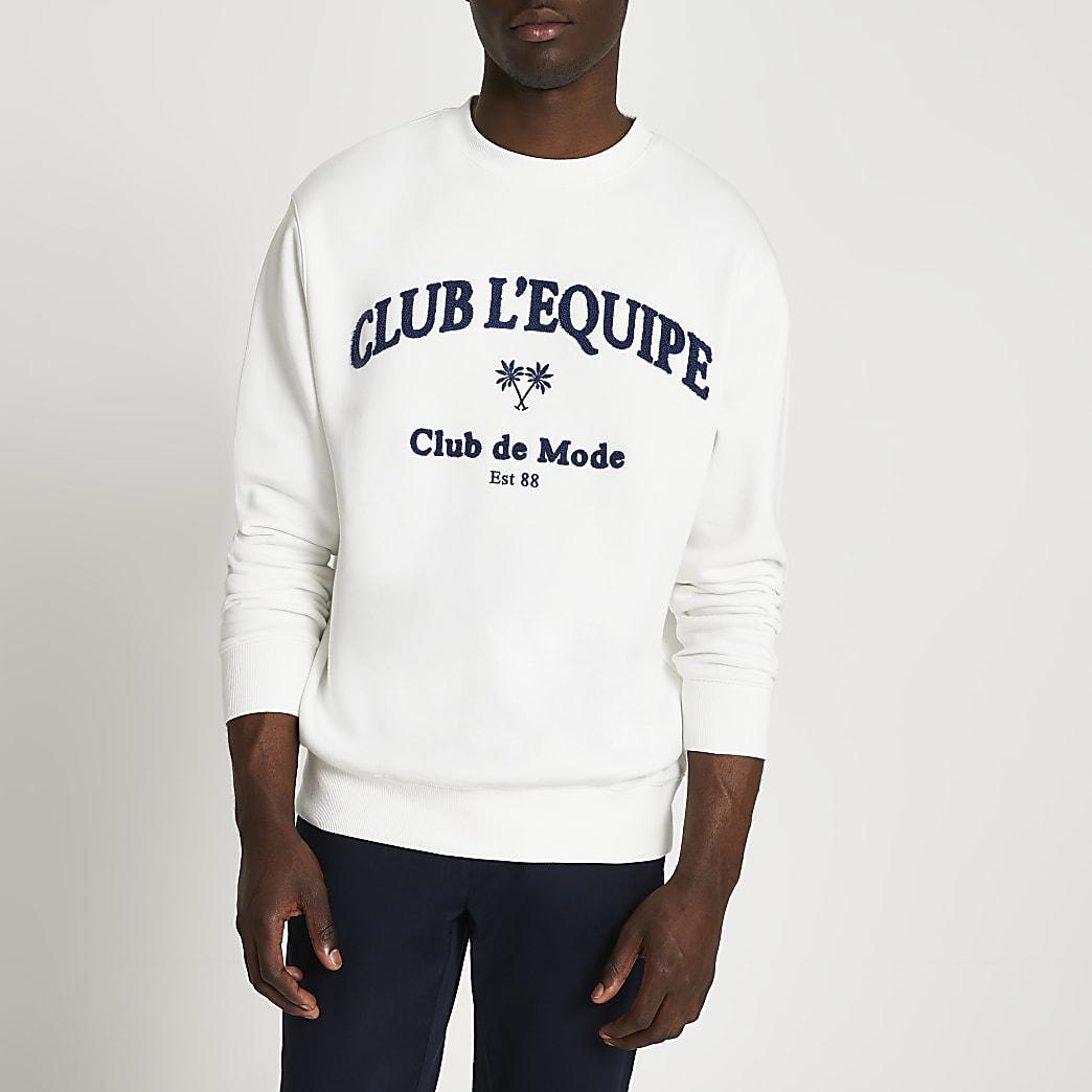 White 'Club L'Equipe' sweatshirt