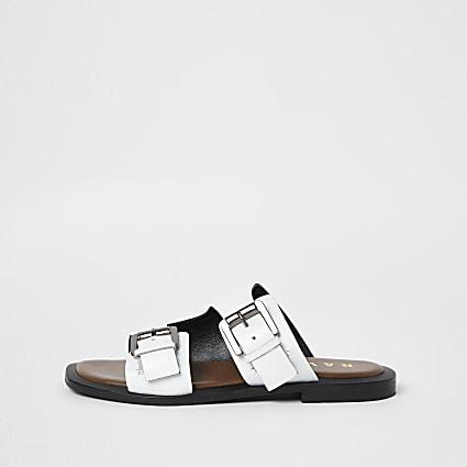 White double strap sandal