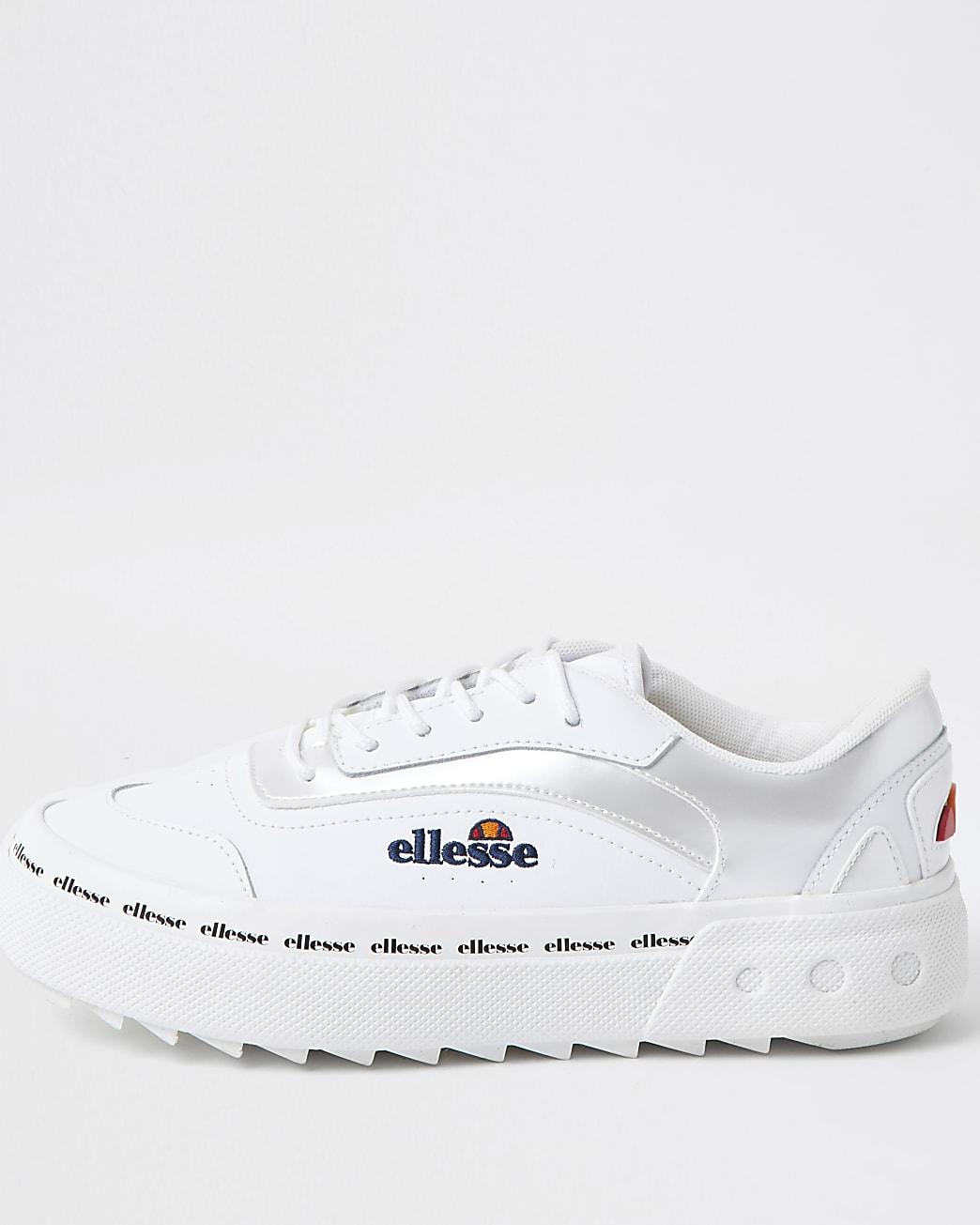 White Ellesse Alzina Lace Up Trainers