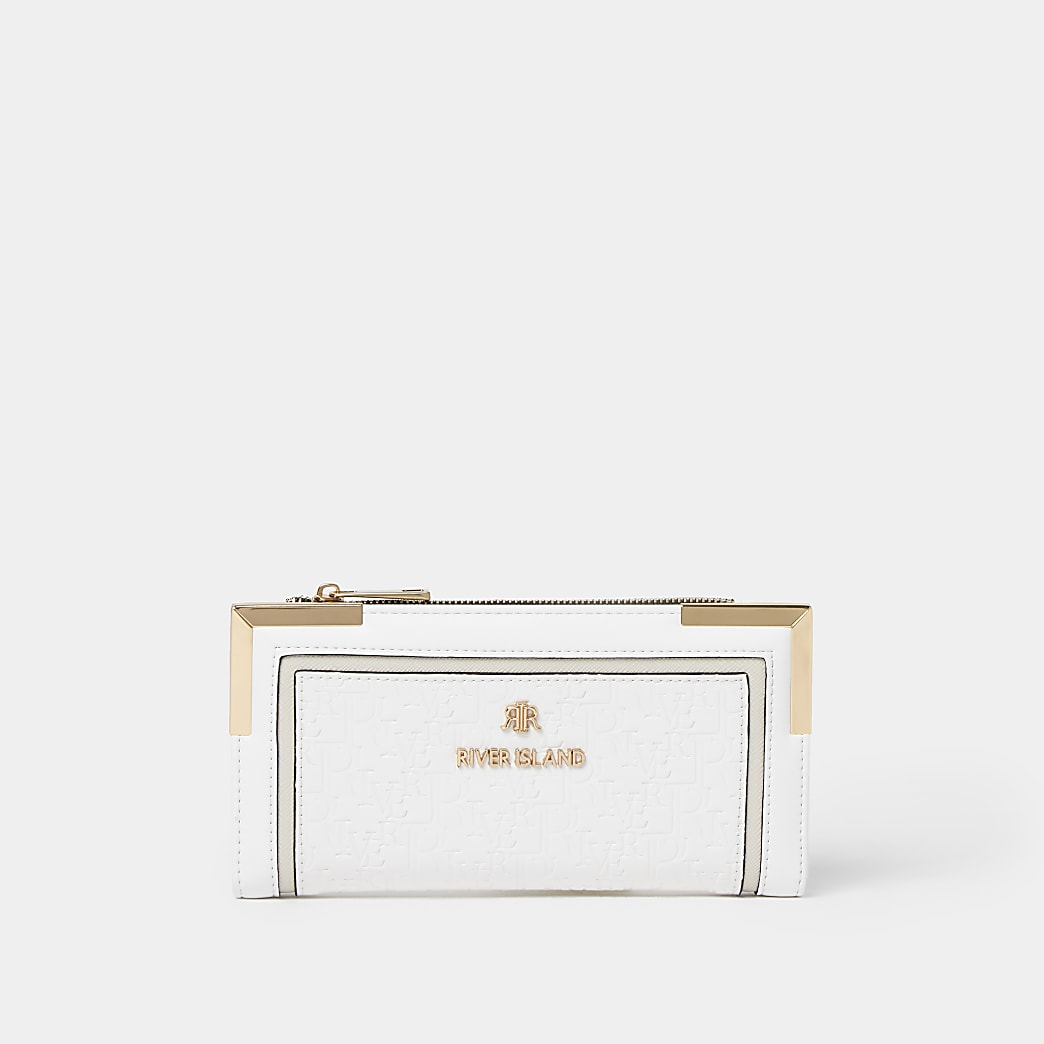 White embossed purse