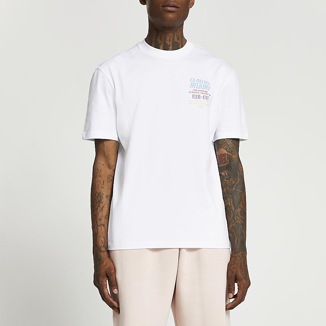 White graphic t-shirt